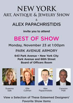 NY Art Antique and Jewelry Show Panel Invitation150